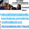 Mathrix tutors Algebra 2 in Manila, Philippines
